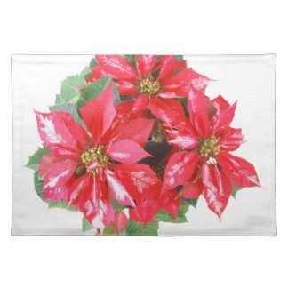 Poinsettia Christmas Star transparent PNG Placemat
