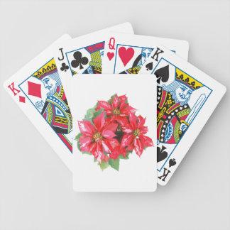 Poinsettia Christmas Star transparent PNG Poker Deck