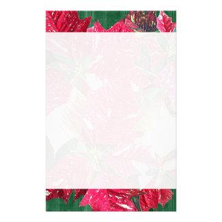 Poinsettia Christmas Stationery