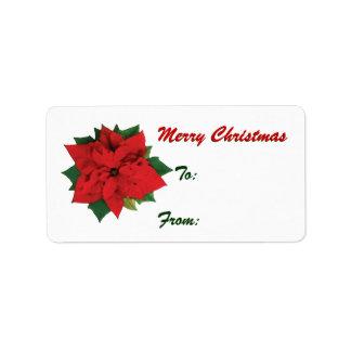 Poinsettia Christmas tags