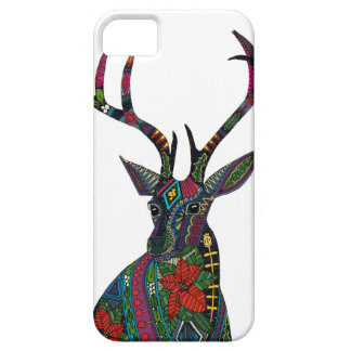 poinsettia deer white iPhone 5 covers