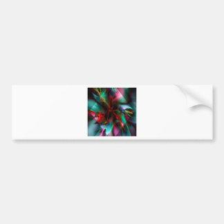 Poinsettia diamond bumper sticker