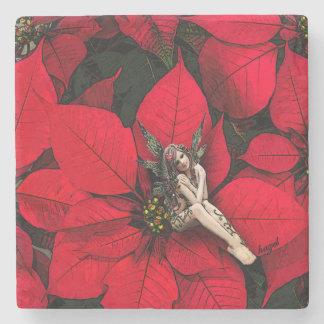 Poinsettia Fairy, Christmas Coasters