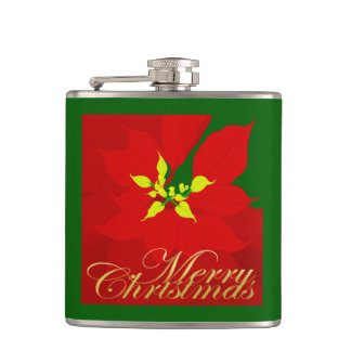 Poinsettia Flask