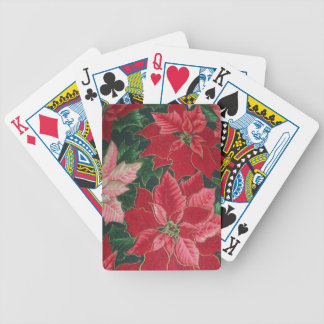 Poinsettia Flower Design Playing Cards