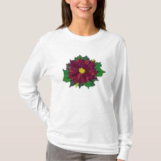 Poinsettia Flower holiday teeshirt T-Shirt