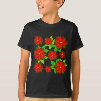 Poinsettia Flower Style Design T-Shirt
