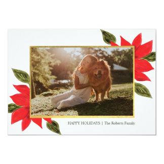 Poinsettia Holiday Photo Card