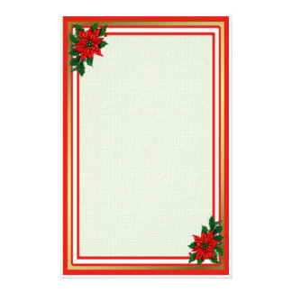 Poinsettia Holiday Stationery