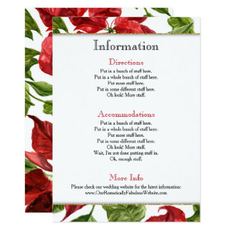 Poinsettia Holiday Wedding Information Details Card