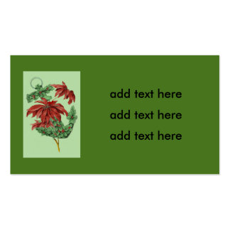 Poinsettia Holly Anchor Nautical Pack Of Standard Business Cards