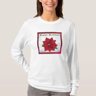 Poinsettia in Stained Glass T-Shirt