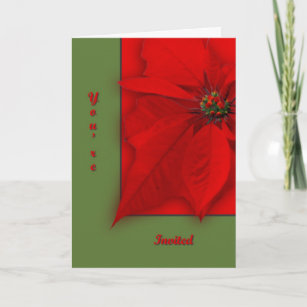 Poinsettia Invitation