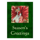 Poinsettia Lady card