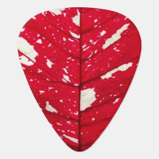 Poinsettia Leaf Guitar Picks