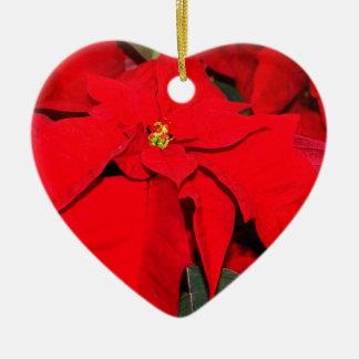 Poinsettia, Merry Christmas2010 Ceramic Heart Decoration
