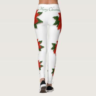 "Poinsettia, ""Merry Christmas"" Leggings"