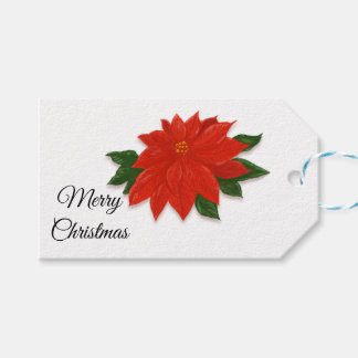 "Poinsettia ""Merry Christmas"" ""To ... From"" Gift Tags"