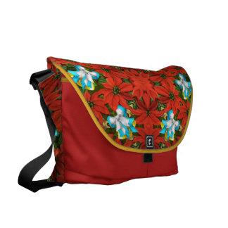 Poinsettia Messenger Bags