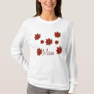 Poinsettia Mum Ladies Top