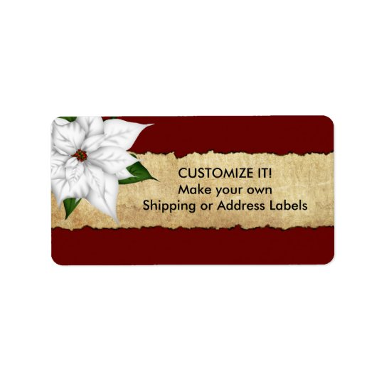 Poinsettia Parchment Stickers