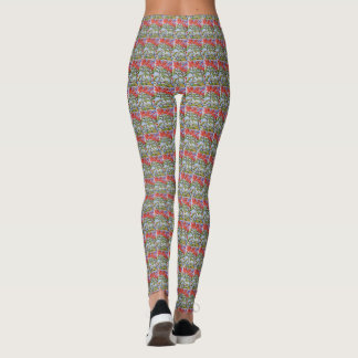 Poinsettia Pattern Leggings