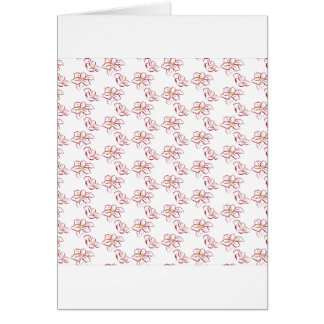 Poinsettia pattern - white card