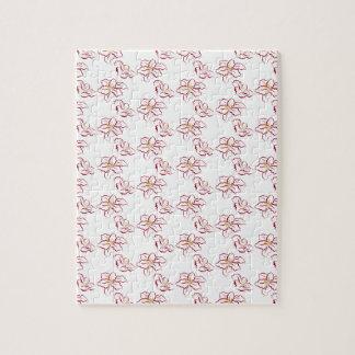 Poinsettia pattern - white jigsaw puzzle
