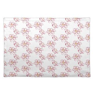 Poinsettia pattern - white placemat