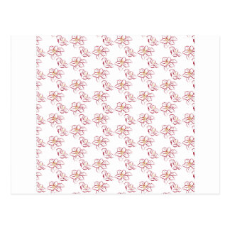 Poinsettia pattern - white postcard