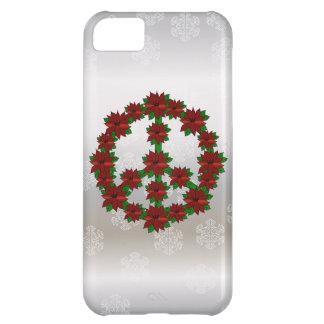 Poinsettia Peace Sign iPhone 5C Case