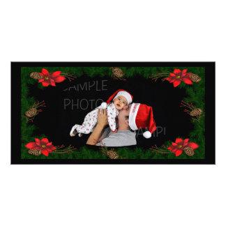 Poinsettia Photo Christmas Card
