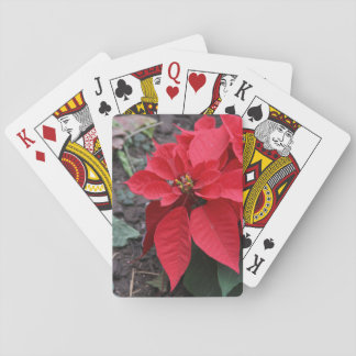 Poinsettia Playing Cards