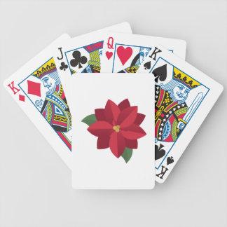 Poinsettia Poker Deck