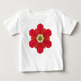 Poinsettia Snowflake Baby T-Shirt