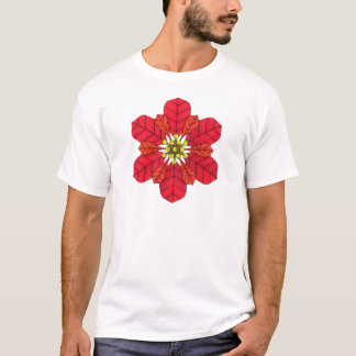 Poinsettia Snowflake T-Shirt