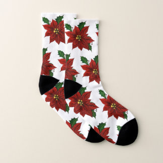 Poinsettia Socks 1
