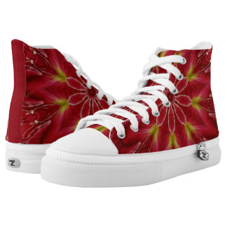Poinsettia Star Printed Shoes