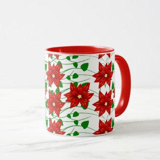 Poinsettia & Vines Holiday Coffee Mug