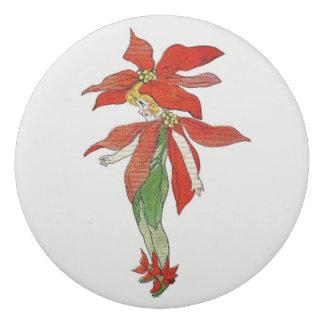 Poinsettia Vintage Cute Flower Girl Floral Eraser