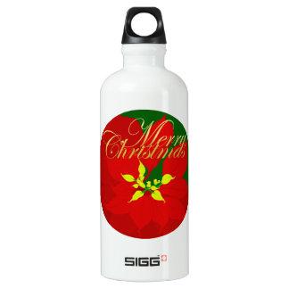 Poinsettia Water Bottle
