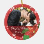 Poinsettia Wedding Couple's First Christmas Gift