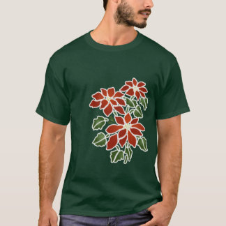 Poinsettias (dark) T-Shirt