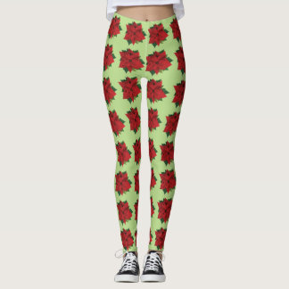 Poinsettias Leggings
