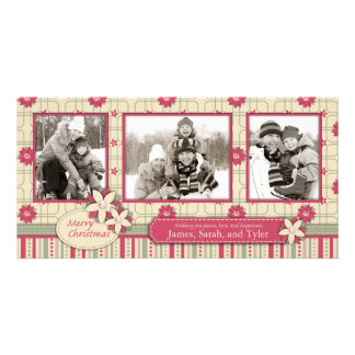 Poinsettias Photo Card Trio