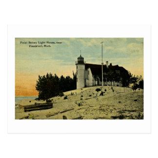 Point Betsey Lighthouse near  Frankfort Michigan Postcard