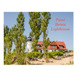 Point Betsie Lighthouse on Lake Michigan Postcard