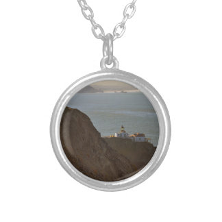 Point Bonita Lighthouse in San Francisco CA Silver Plated Necklace