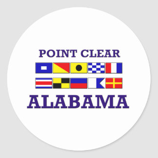 Point Clear Flags Sticker