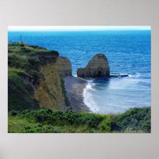 Point Du Hoc Normandy, France Poster